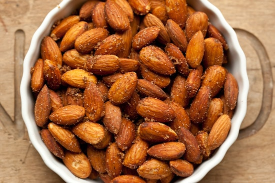 Sweet and Spicy Roasted Almonds