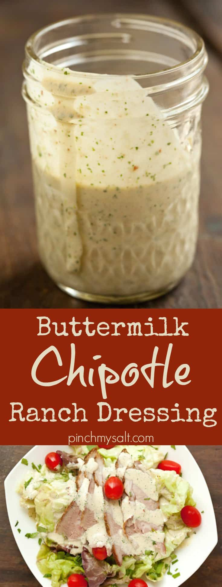 Buttermilk Chipotle Ranch Dressing | pinchmysalt.com