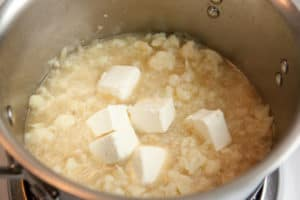 Making Loaded Cream of Cauliflower Soup