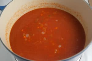Tomato Puree is Added to the Vegetables