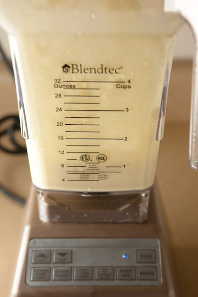 Peach Smoothie in my Blendtec