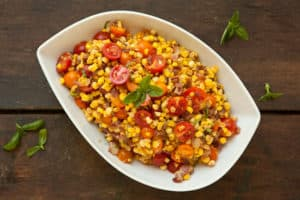Fresh Corn Salad with Bacon