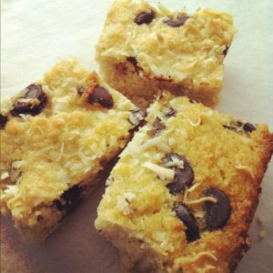 Coconut Bars with Chocolate Chips by Jennifer
