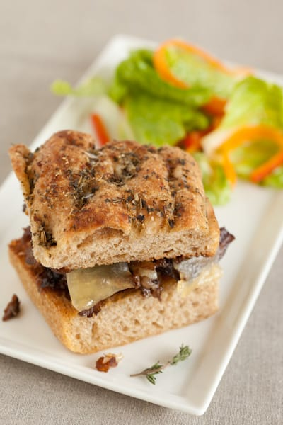 Braised Short Rib Sandwich with Salad