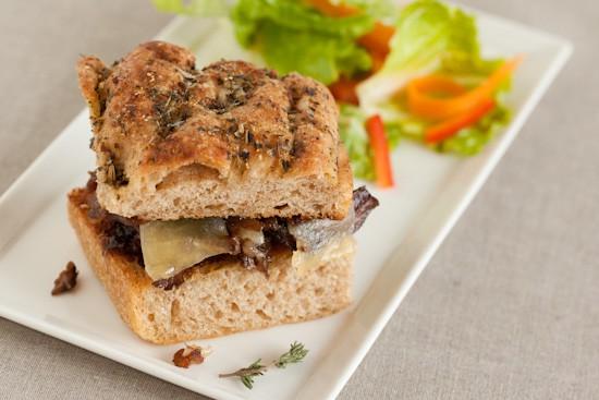 Short Rib Sandwich with Salad