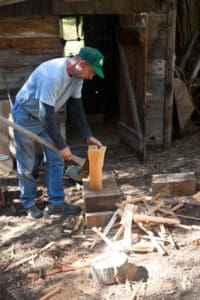 My Dad Chopping Kindling