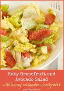 Grapefruit and Avocado Salad recipe | pinchmysalt.com