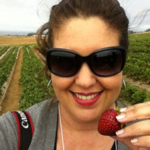 iPhone Self-Portrait with Strawberry