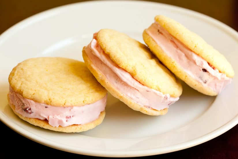 Strawberry Lemon Ice Cream Sandwiches