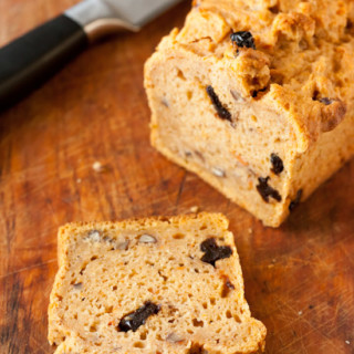 Gluten-Free Sweet Potato Bread with Pecans and Cherries