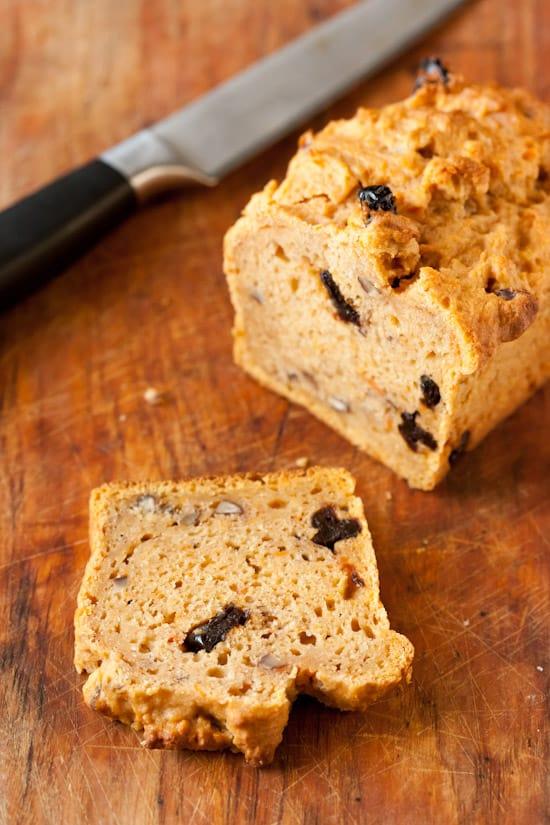 Gluten-Free Sweet Potato Bread with Pecans and Cherries