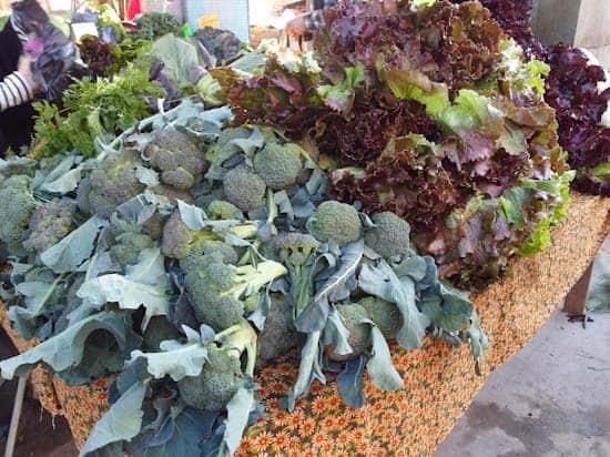 broccoli at the farmer's market