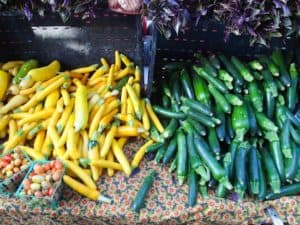 Zucchini and Yellow Squash at the Farmer's Market
