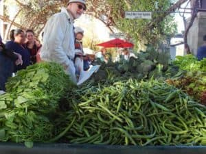 Green beans at the farmer's market