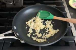 Sauteed onion in skillet