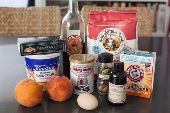 Maple Peach and Sour Cream Scone Ingredients