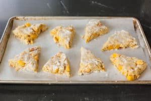place scones on baking sheet