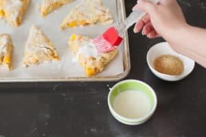 brush scones with heavy cream