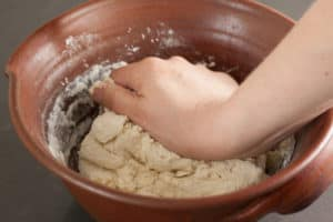 Knead dough in bowl | pinchmysalt.com