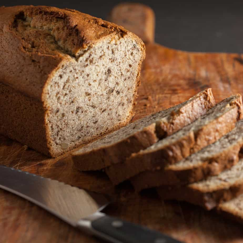 Sliced Sourdough Banana Bread