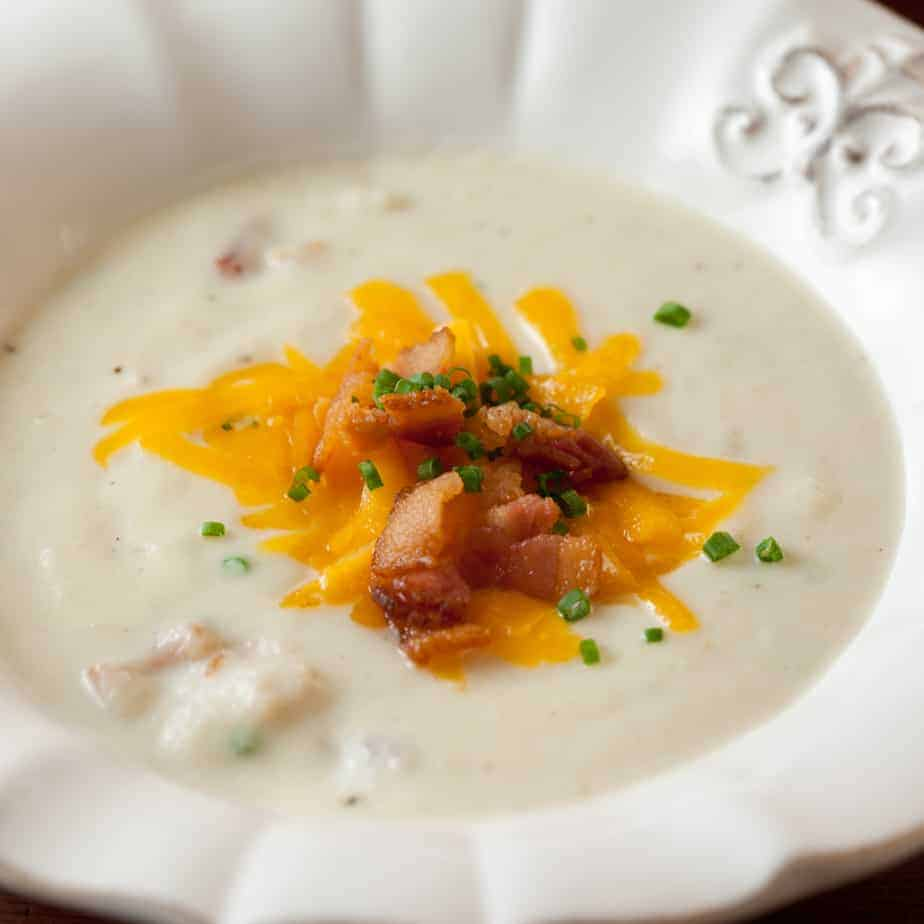 Bowl of Loaded Cauliflower Soup