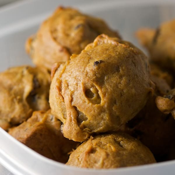 Bowl of Sticky Persimmon Cookies