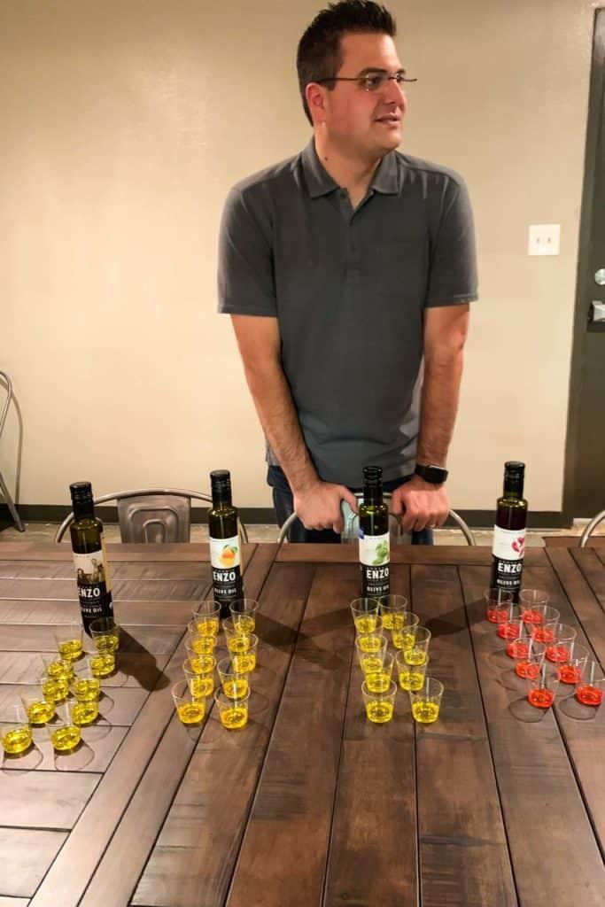 Olive oil sampling